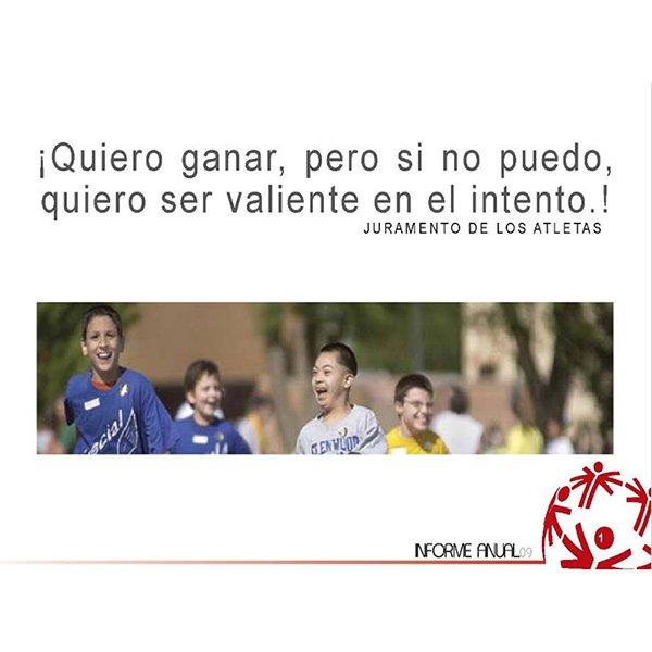 Olimpiadas especiales informe 2009