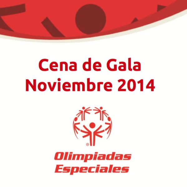 Olimpiadas especiales cena de gala 2014